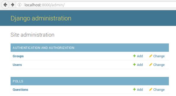 Gambar 1. Halaman index dari aplikasi admin